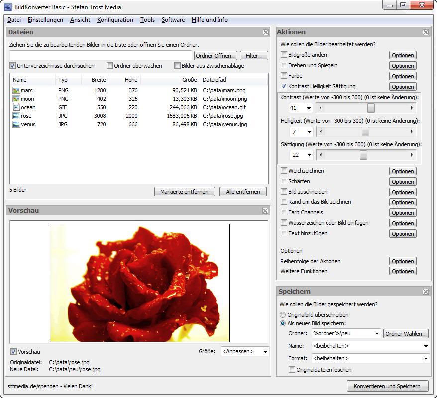 BildKonverter - Der BildKonverter - Screenshot