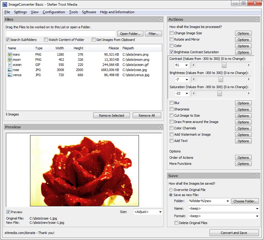 ImageConverter - The Image Converter - Screenshot
