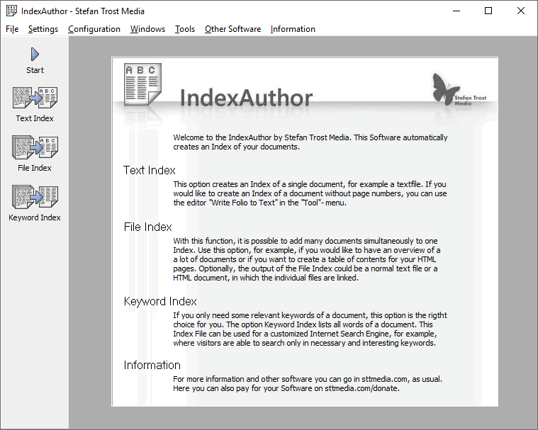 IndexAuthor - Captura de Pantalla