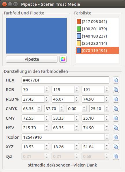 Pipette Screenshot