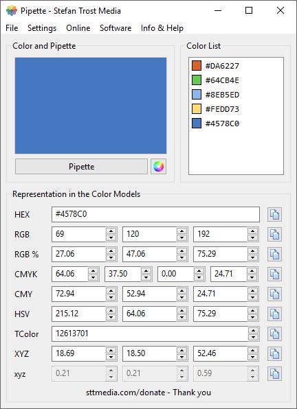 Pipette - Screenshot