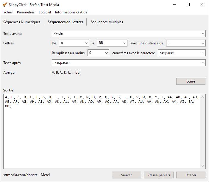 SlippyClerk - Séquences de Lettres - Capture d'écran