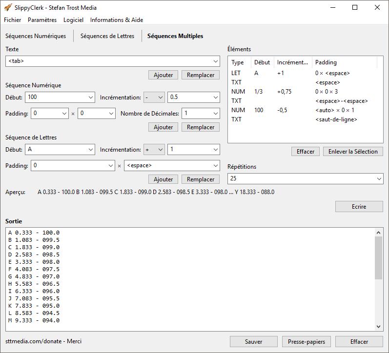 SlippyClerk - Séquences Multiples - Capture d'écran