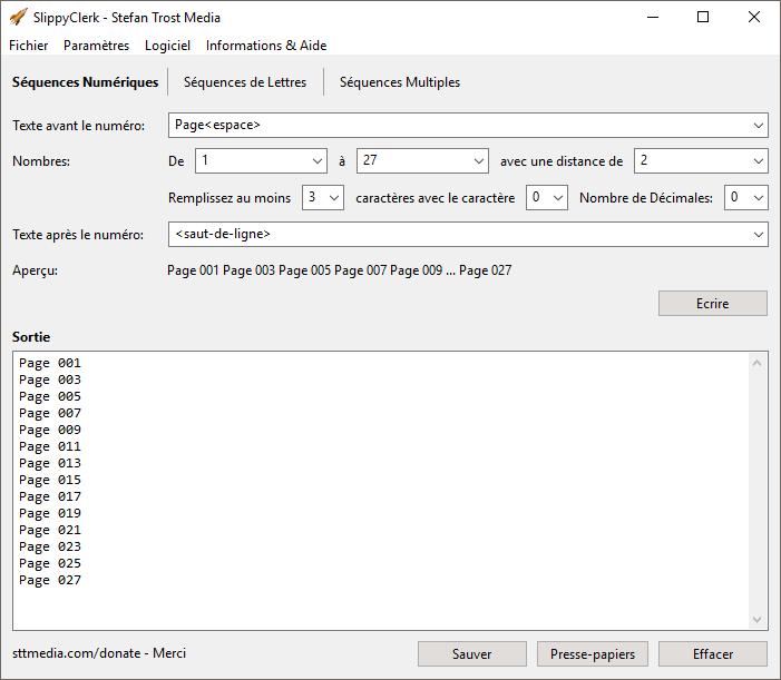 SlippyClerk - Séquences Numériques - Capture d'écran