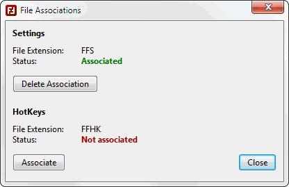 Dateiverknüpfungen - Screenshot