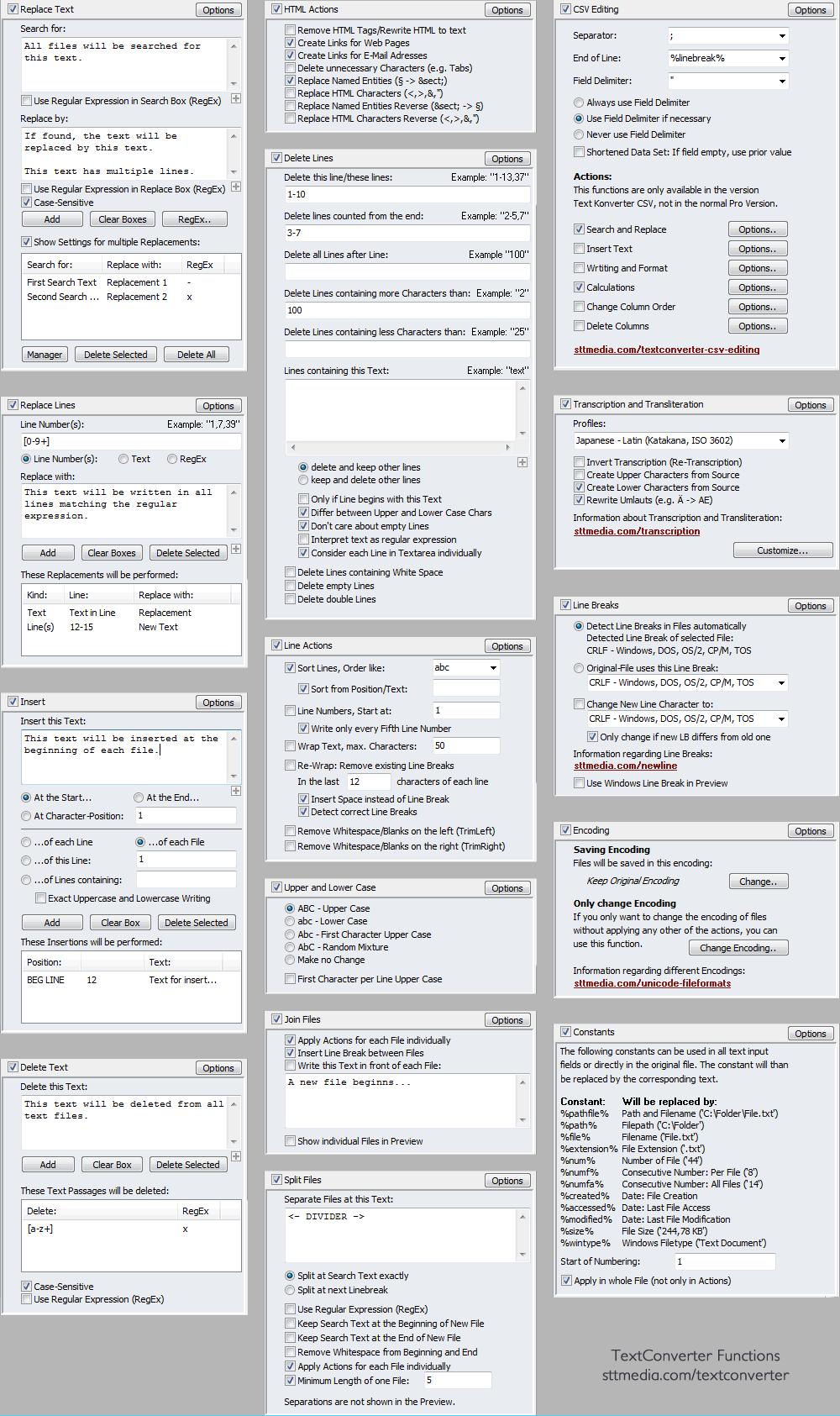 TextConverter - The Actions - Screenshot